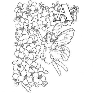 Coloring page fairy to download