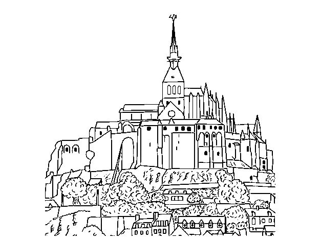 Famous Monuments coloring page to print and color