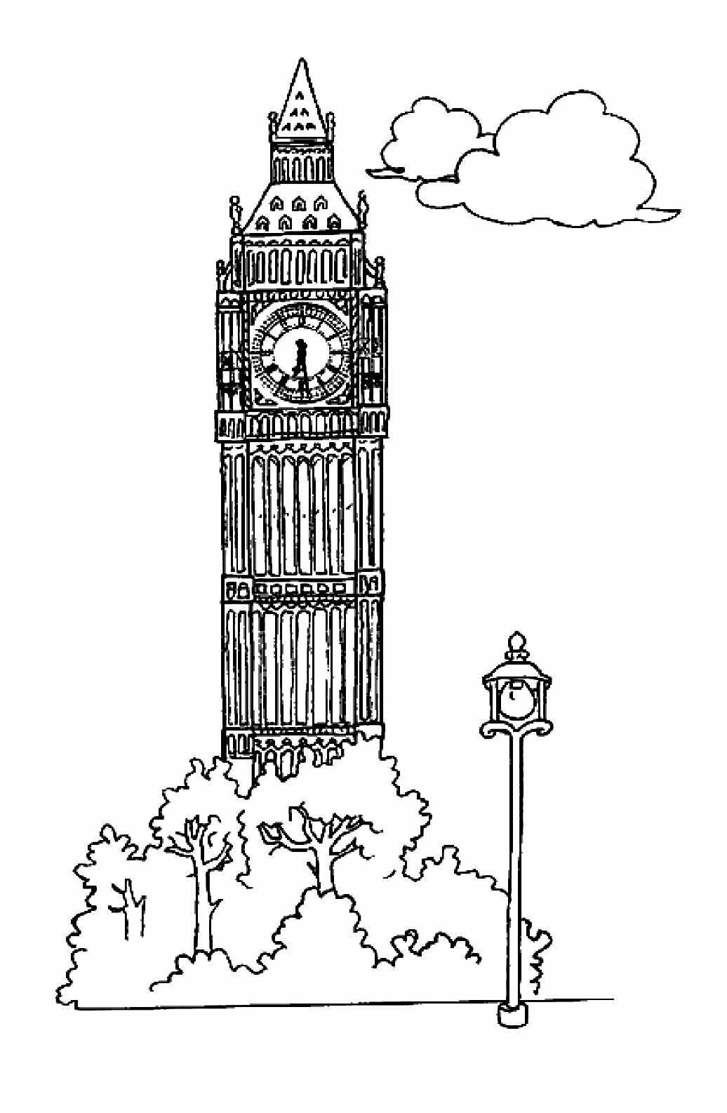 Free Famous Monuments Coloring Page To Print And Color For Kids
