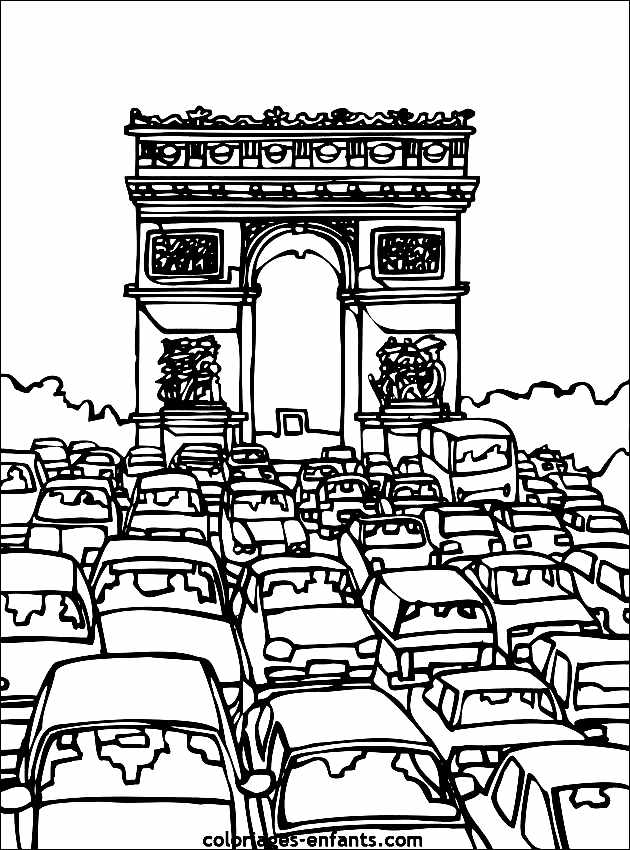 Simple Famous Monuments coloring page