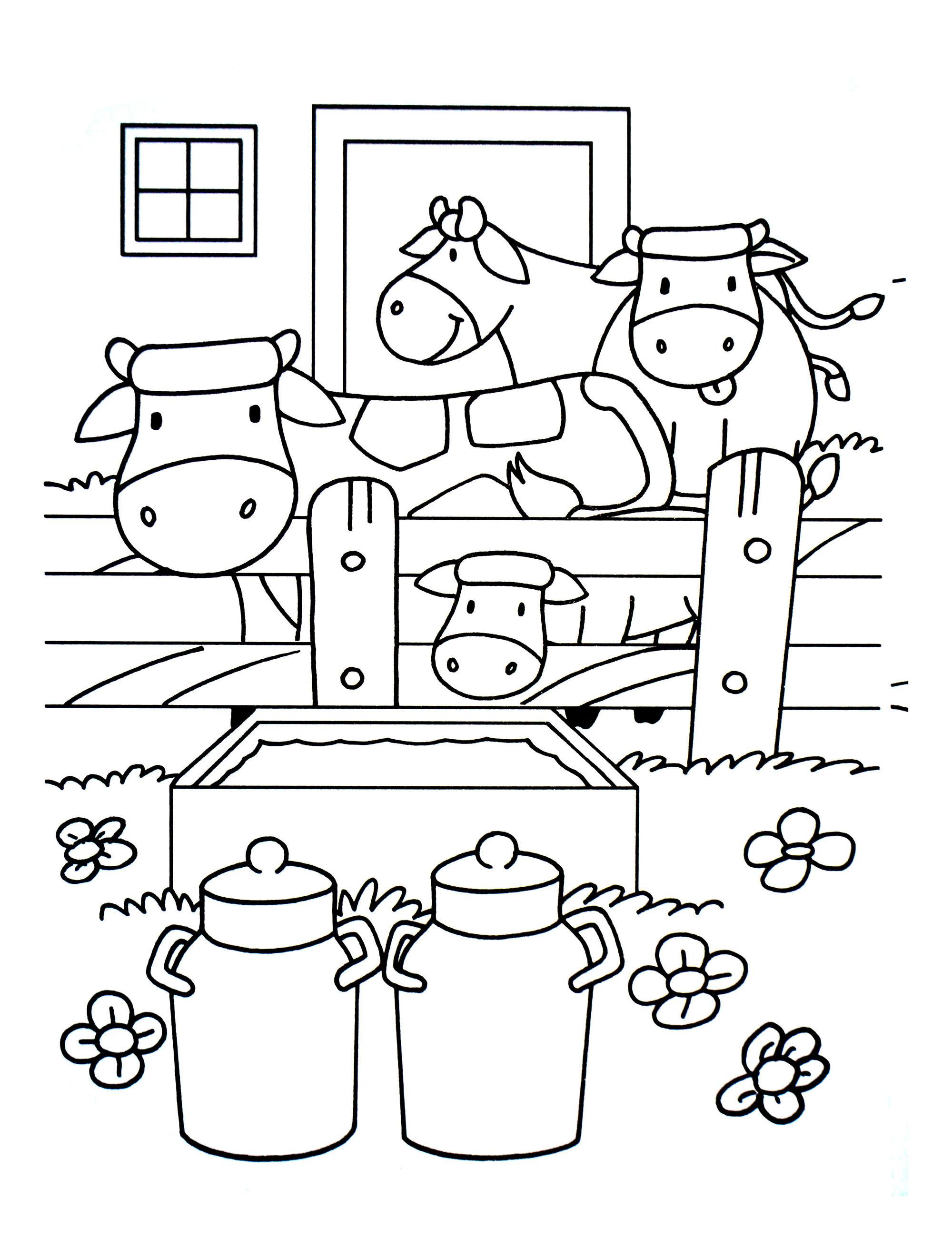 Farm coloring page to download for free