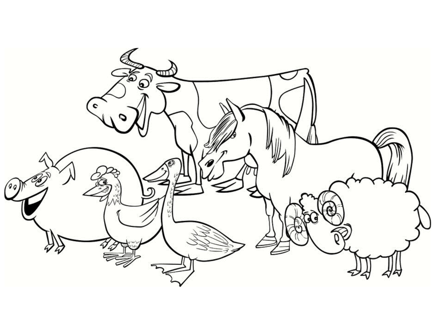 Funny Farm coloring page for kids