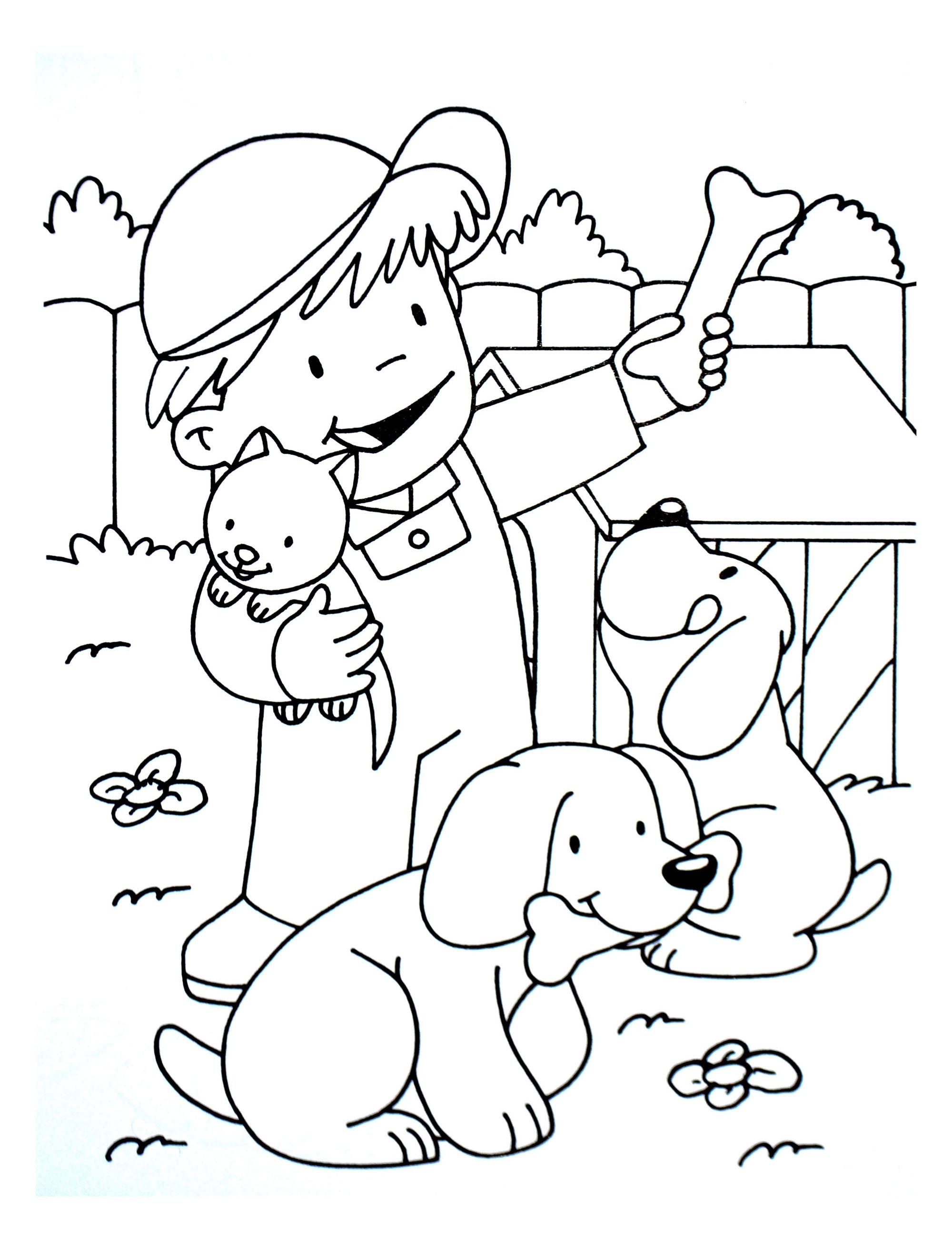 Farm to print - Farm Kids Coloring Pages