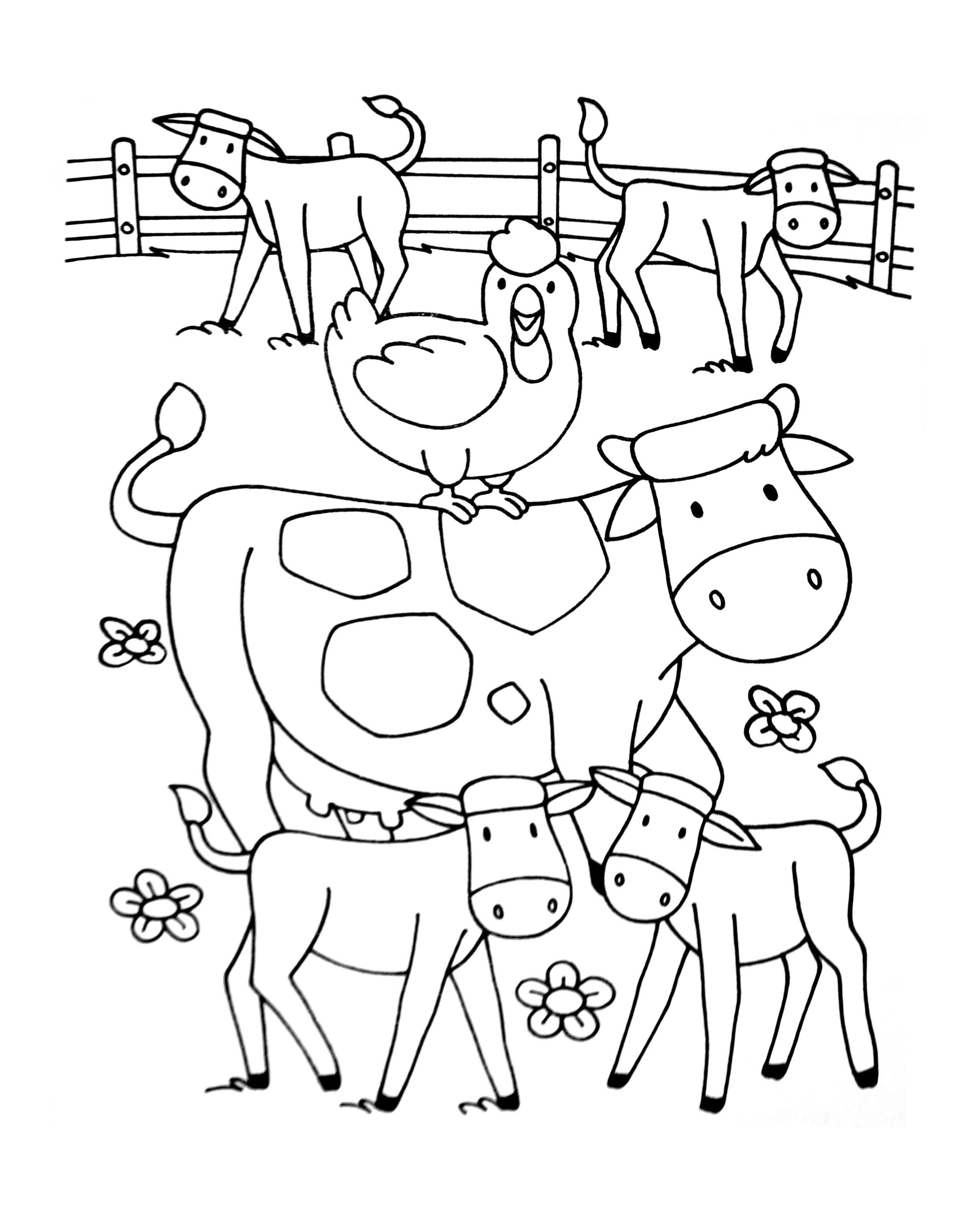 Beautiful Farm coloring page