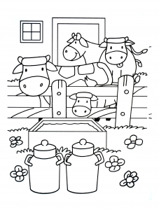 Coloring page farm to print