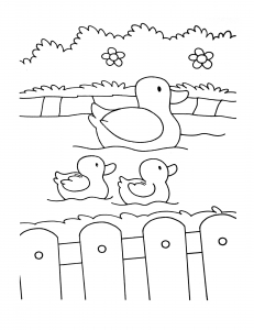 Coloring page farm to color for kids