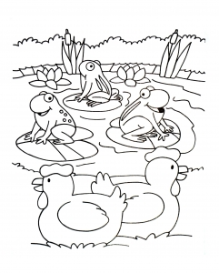 Coloring page farm free to color for kids