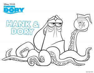 Coloring page finding dory to print