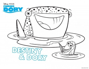 Coloring page finding dory to color for kids