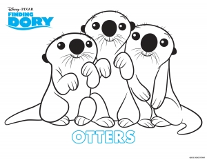 Simple Finding Dory Coloring Page To Download For Free