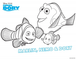 Coloring page finding dory to color for children