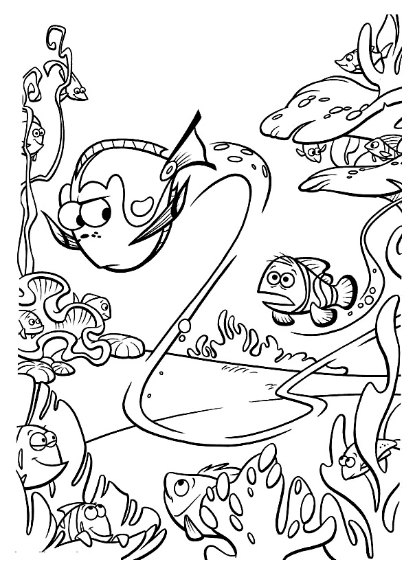 Incredible Finding Nemo coloring page to print and color for free