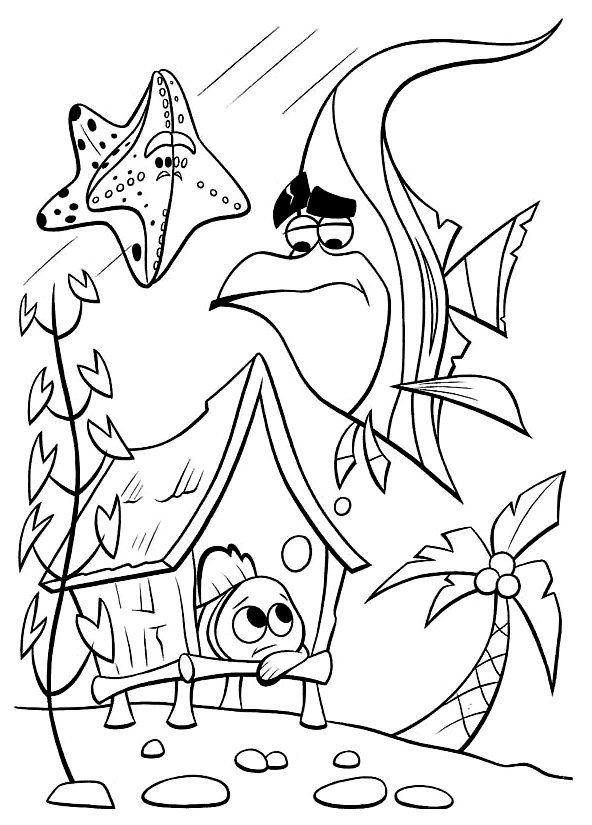 Finding Nemo Printable Coloring Pages