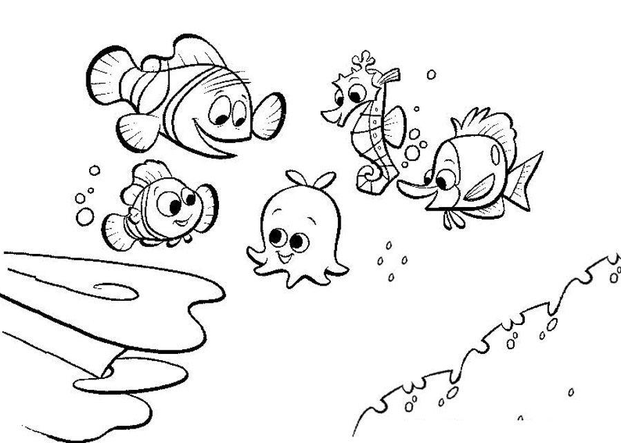 - Finding Nemo Free To Color For Children - Finding Nemo Kids Coloring Pages