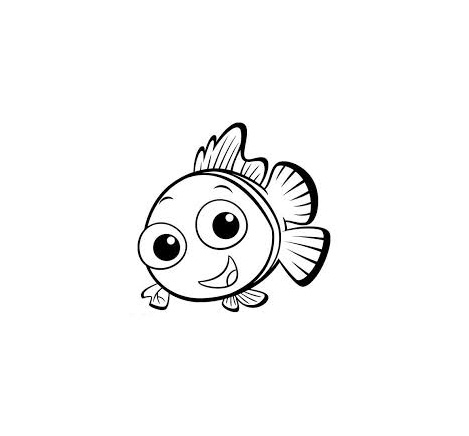 Simple Finding Nemo coloring page for children