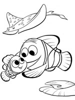 Beautiful Finding Nemo coloring page