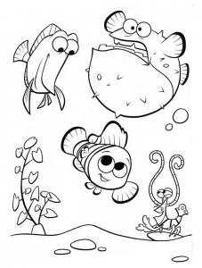 Coloring page finding nemo for kids