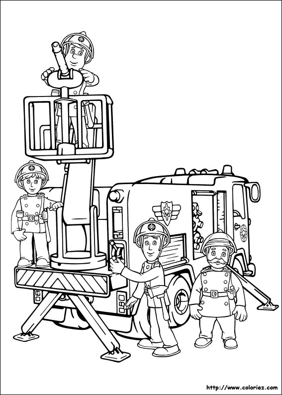 Free Fire Department coloring page to print and color
