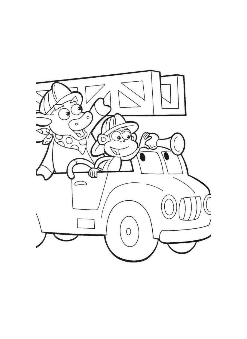 Incredible Fire Department coloring page to print and color for free