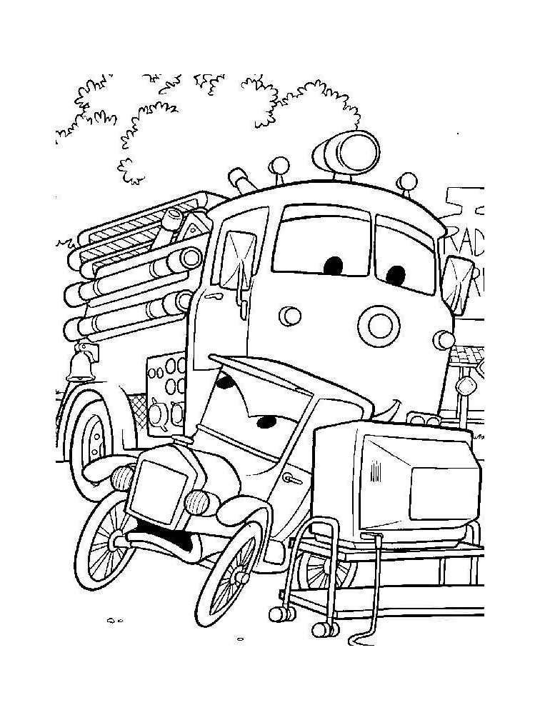 Cute free Fire Department coloring page to download