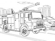 Fire Department Coloring Pages for Kids