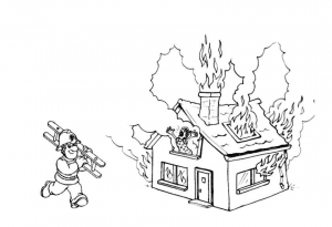Coloring page fire department free to color for kids