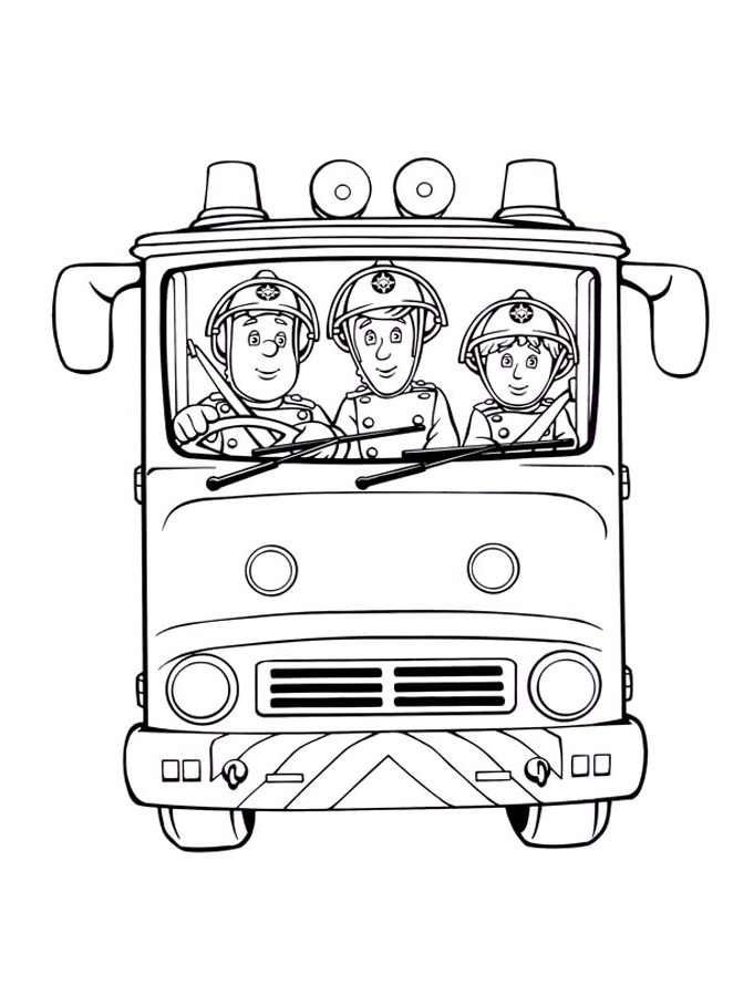 Free Coloring Pages Of Firemen, Download Free Clip Art, Free Clip ... | 909x681