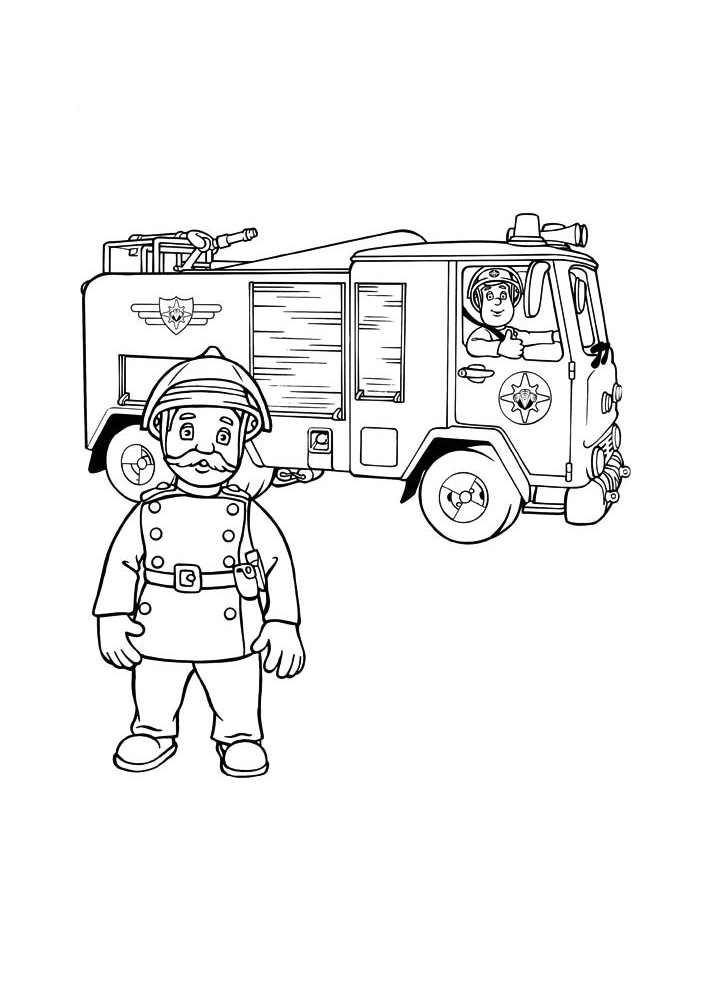 Fireman Sam For Children Fireman Sam Kids Coloring Pages
