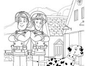 Fireman Sam Coloring Pages for Kids