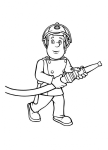 Coloring page fireman sam to color for kids
