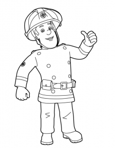 Coloring page fireman sam for children