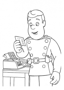 Coloring page fireman sam to download