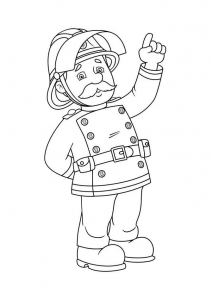 Coloring page fireman sam to download for free
