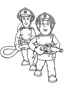 Coloring page fireman sam to print