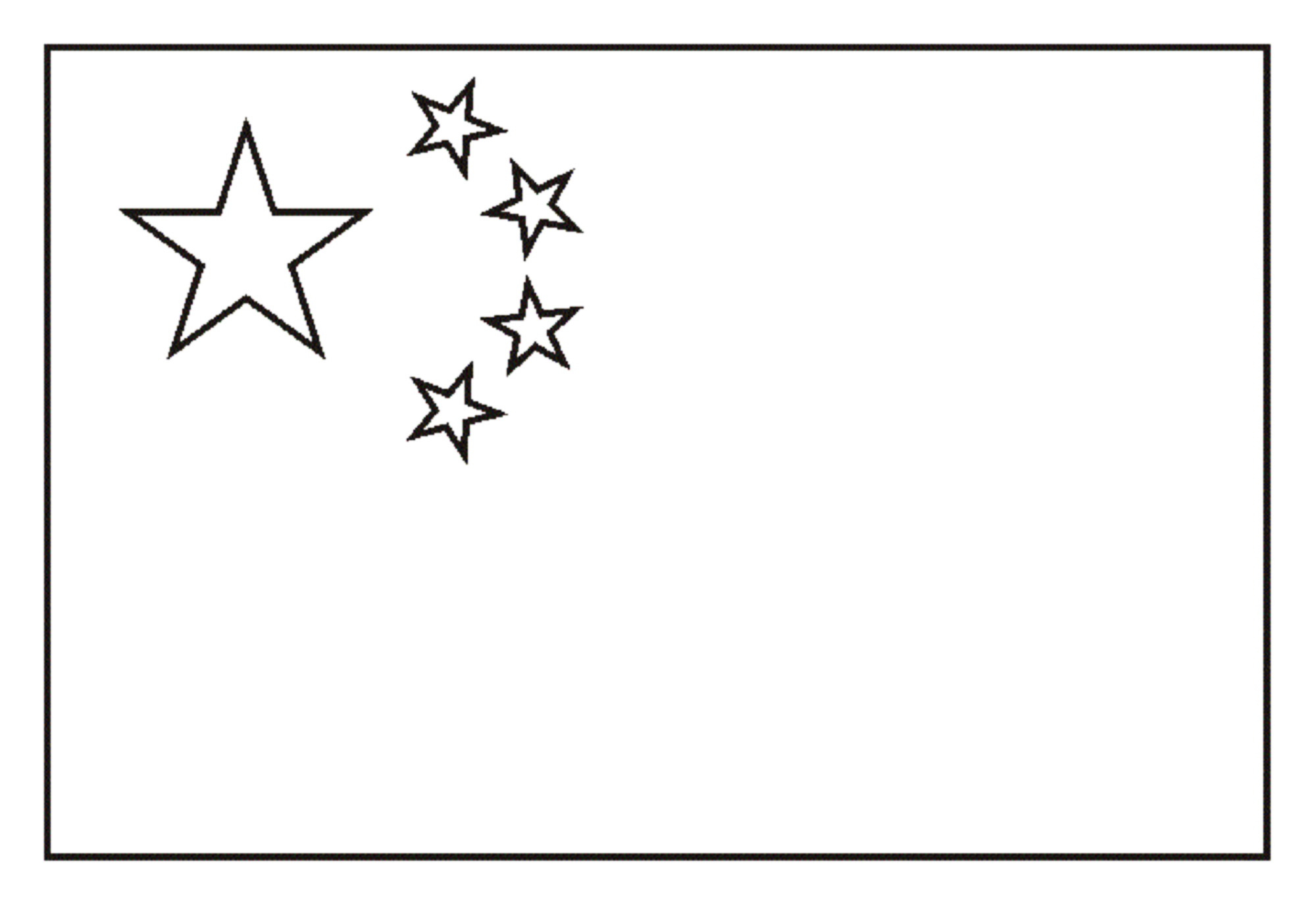 Free Flags coloring page to print and color