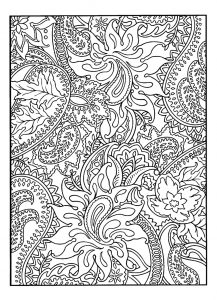 Coloring page flowers to color for children