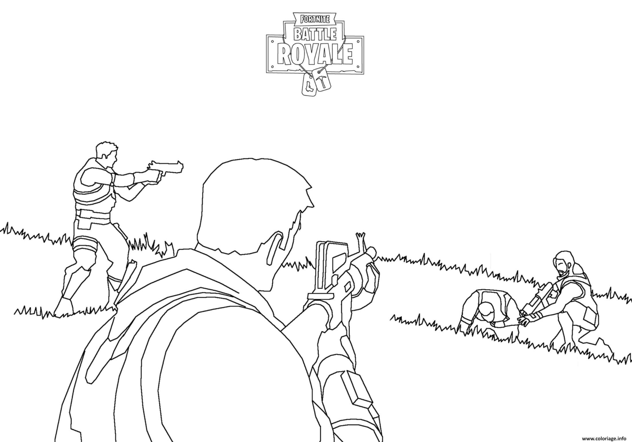 Simple fortnite battle royale coloring page