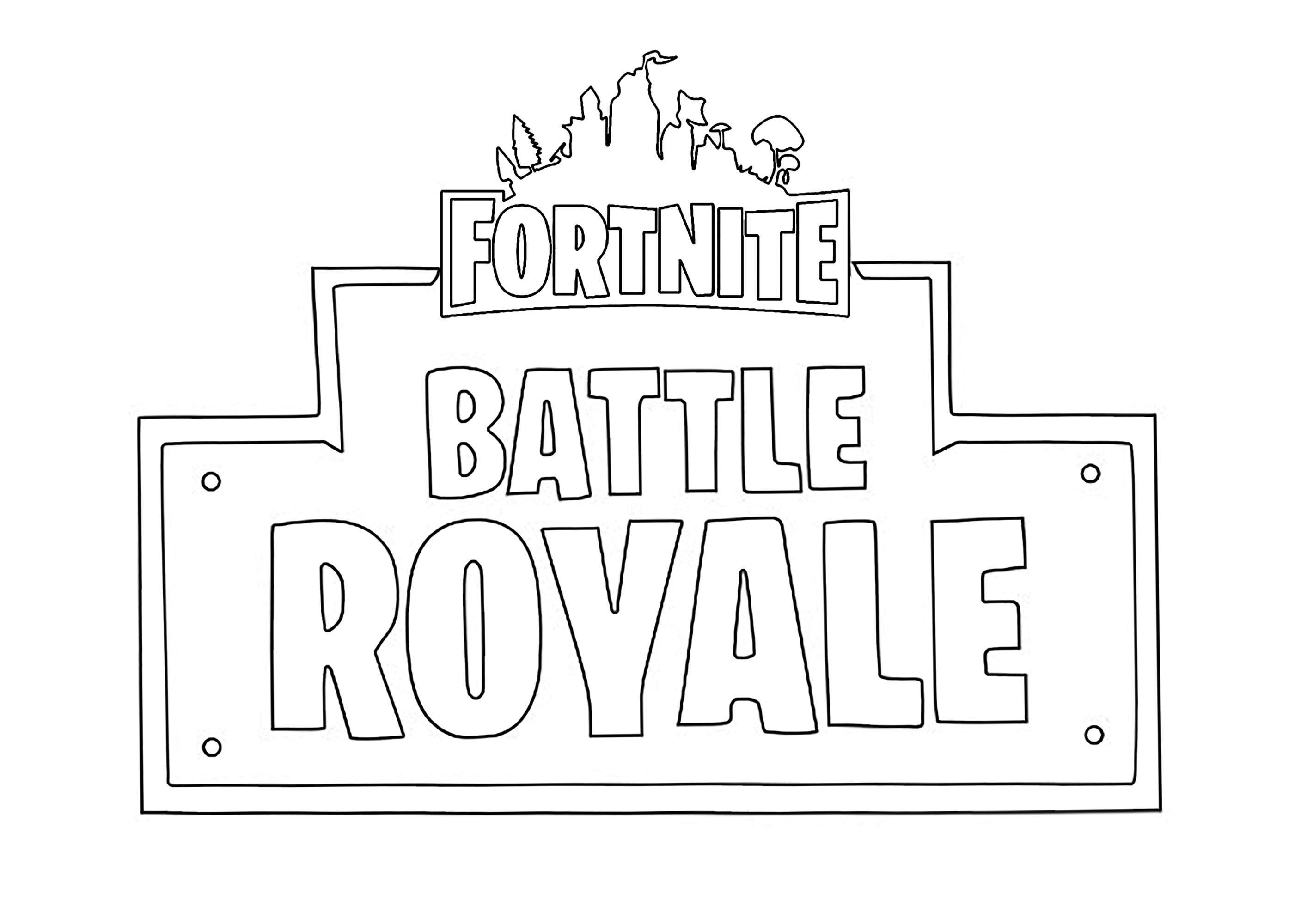 photograph about Free Printable Fortnite Coloring Pages named Emblem Fortnite Overcome Royale - Fortnite Combat Royale Small children