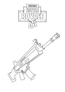 a weapon - fortnite colouring sheets pdf