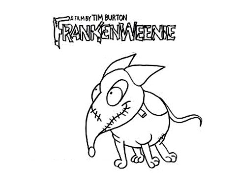 Cute free Frankenweenie coloring page to download