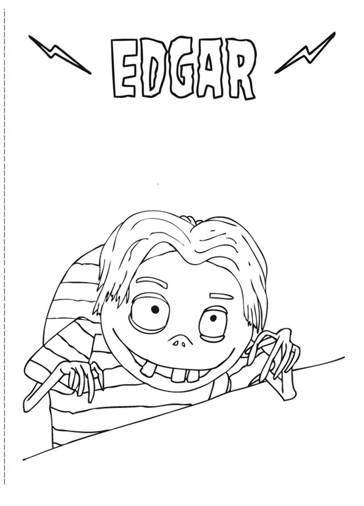 Funny Frankenweenie coloring page for kids
