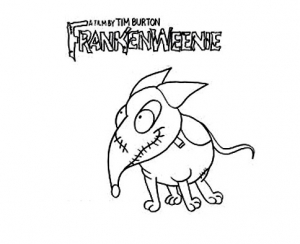 Coloring page frankenweenie for children