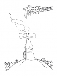 Coloring page frankenweenie to print for free