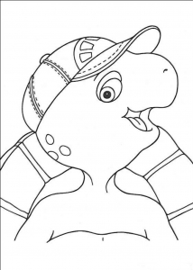Coloring page franklin for children