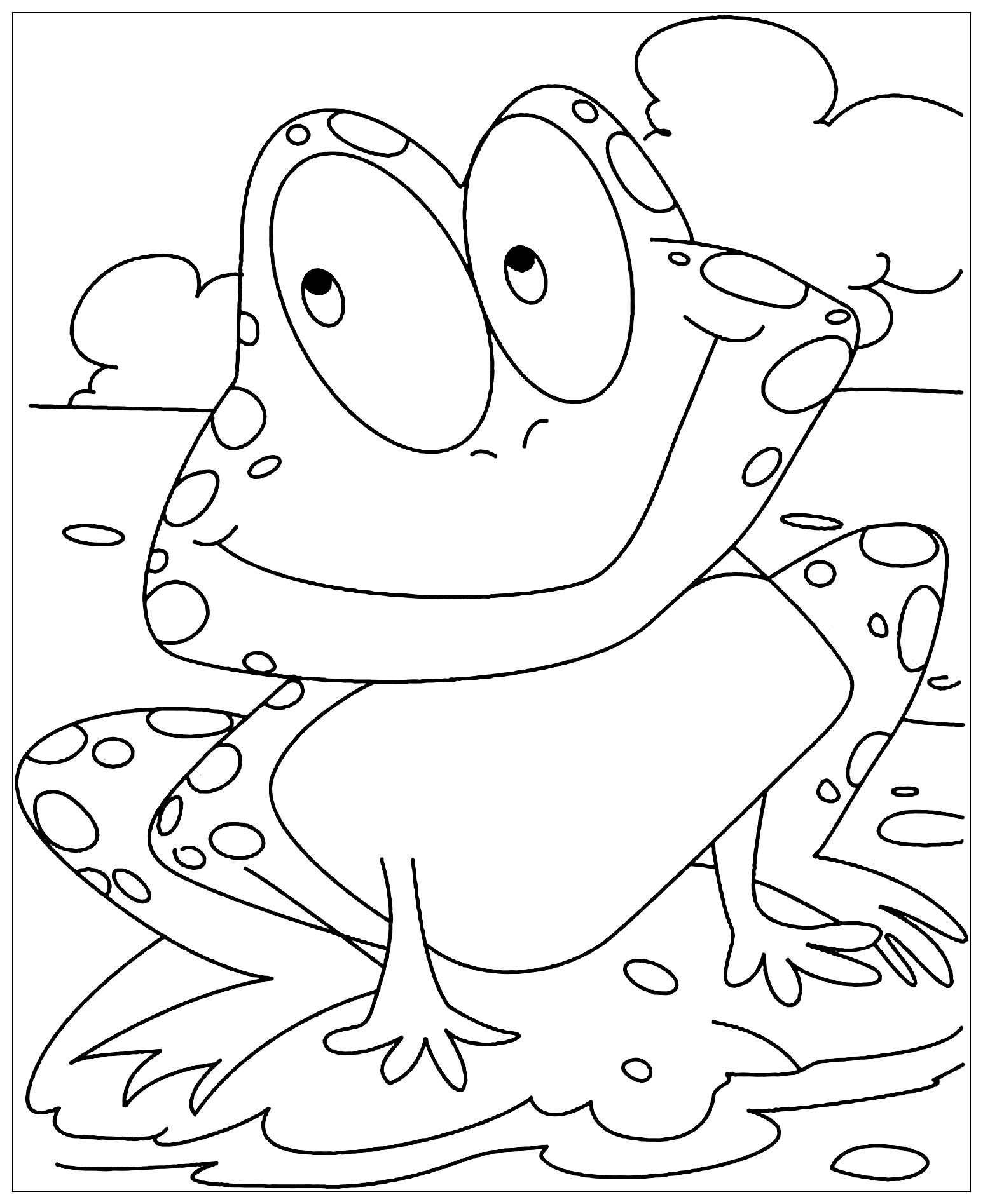 Frogs to color for children - Frogs Kids Coloring Pages