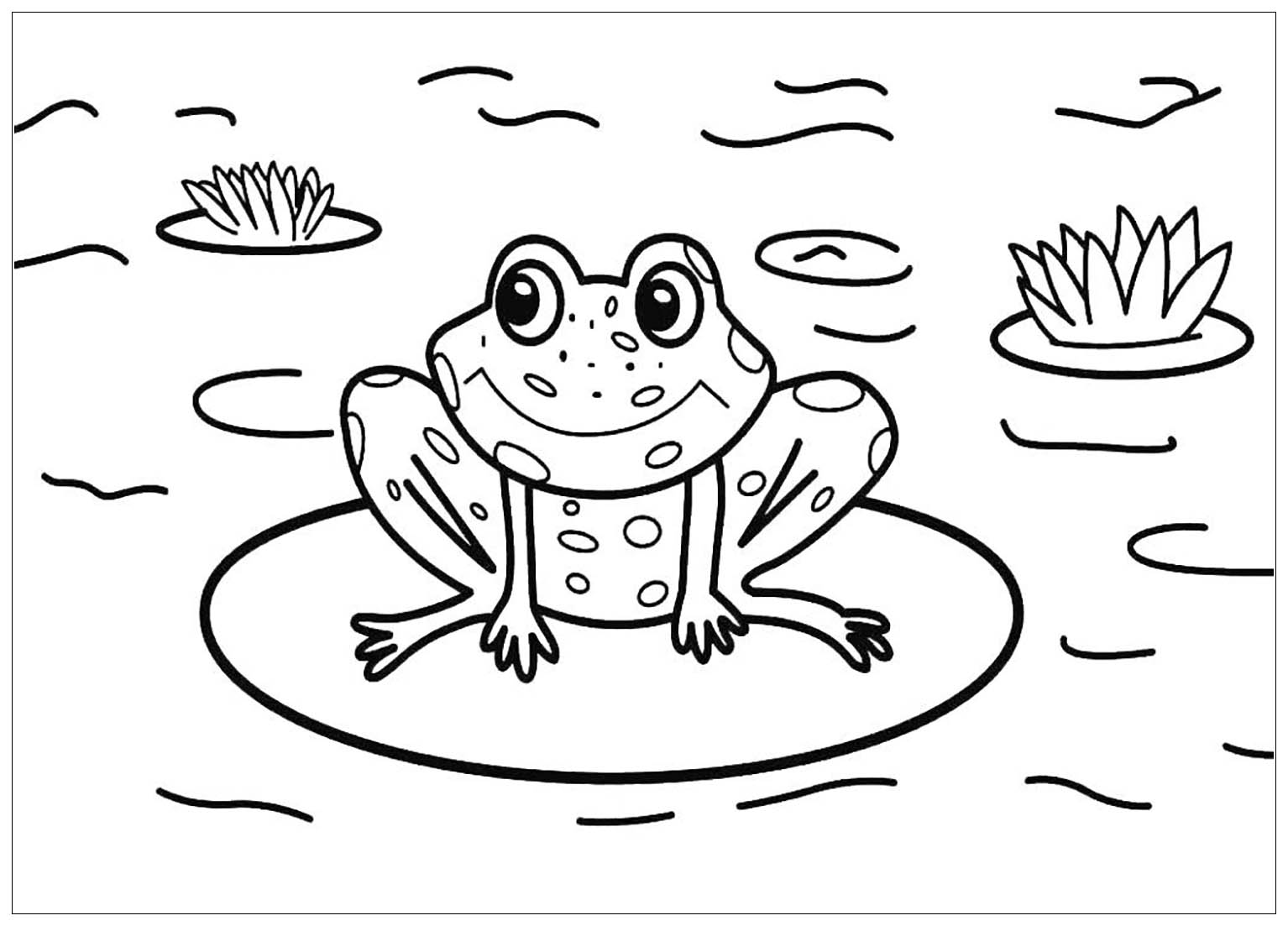 Frogs for kids - Frogs Kids Coloring Pages