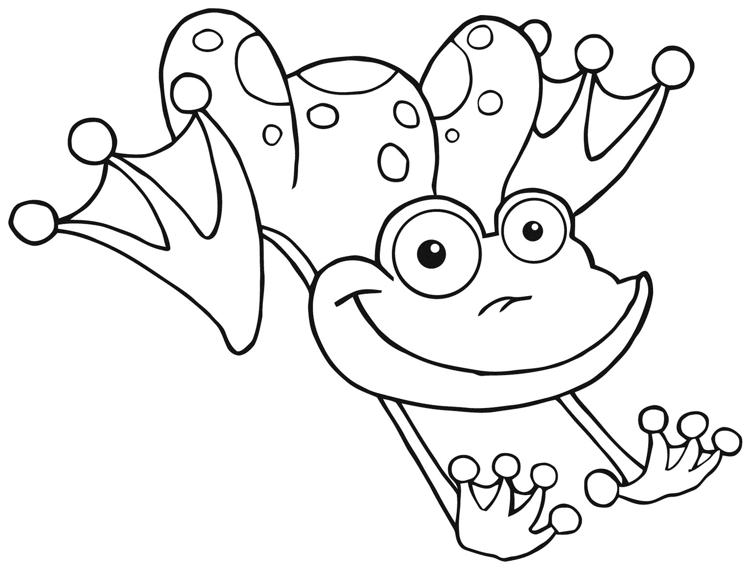 Beautiful Frogs coloring page to print and color