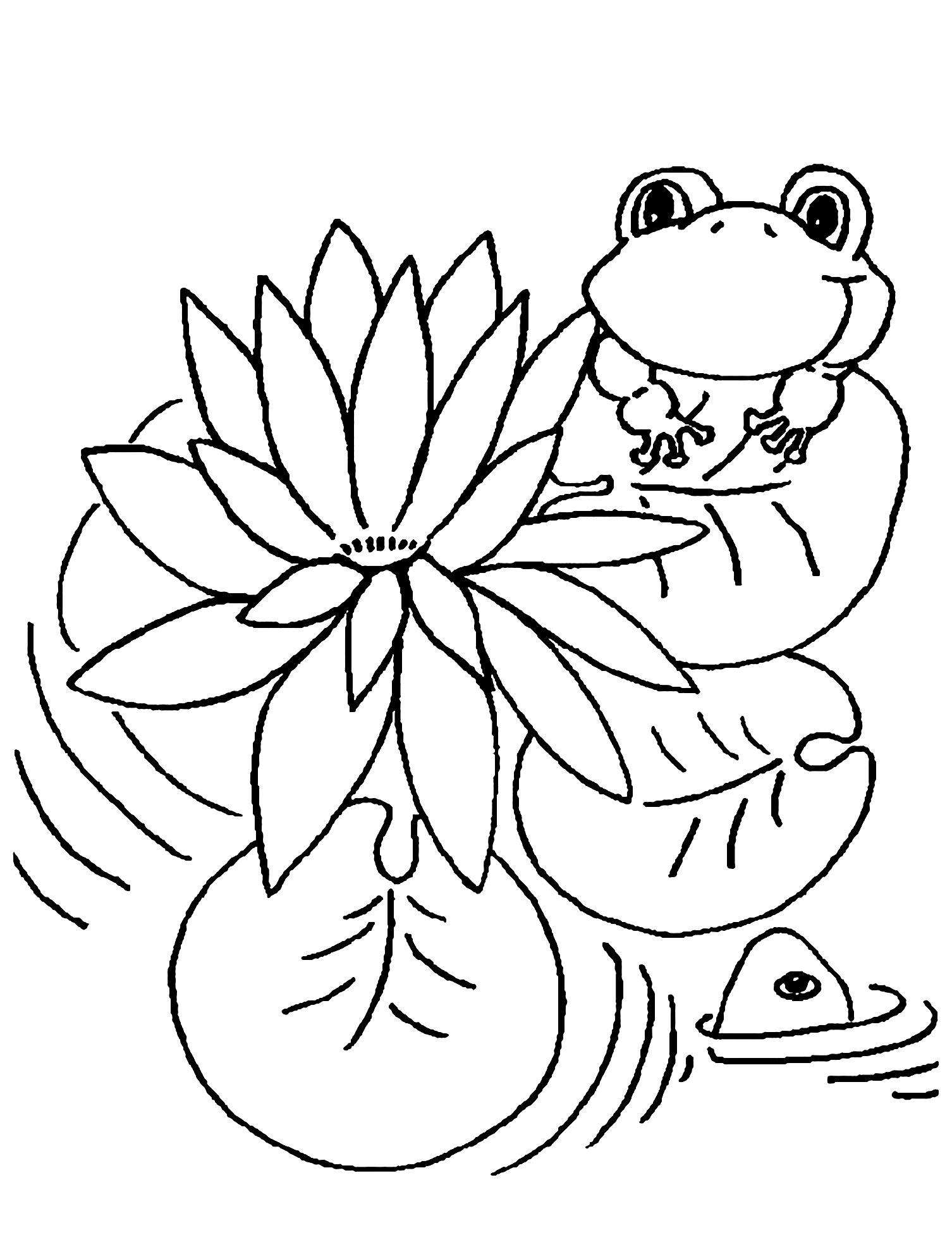 Printable Frogs coloring page to print and color