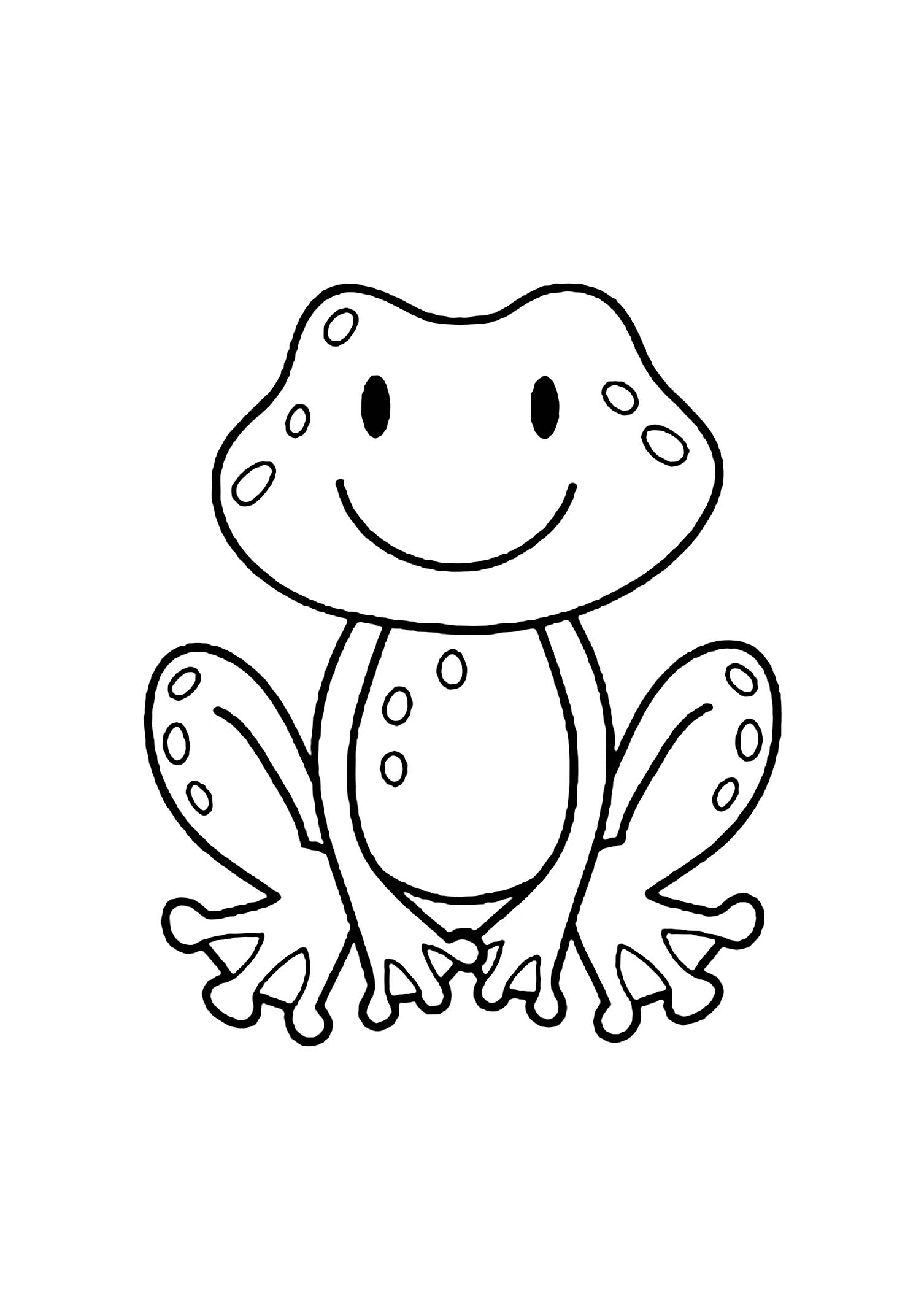 - Frogs To Color For Children - Frogs Kids Coloring Pages