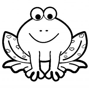 Coloring page frogs to color for kids